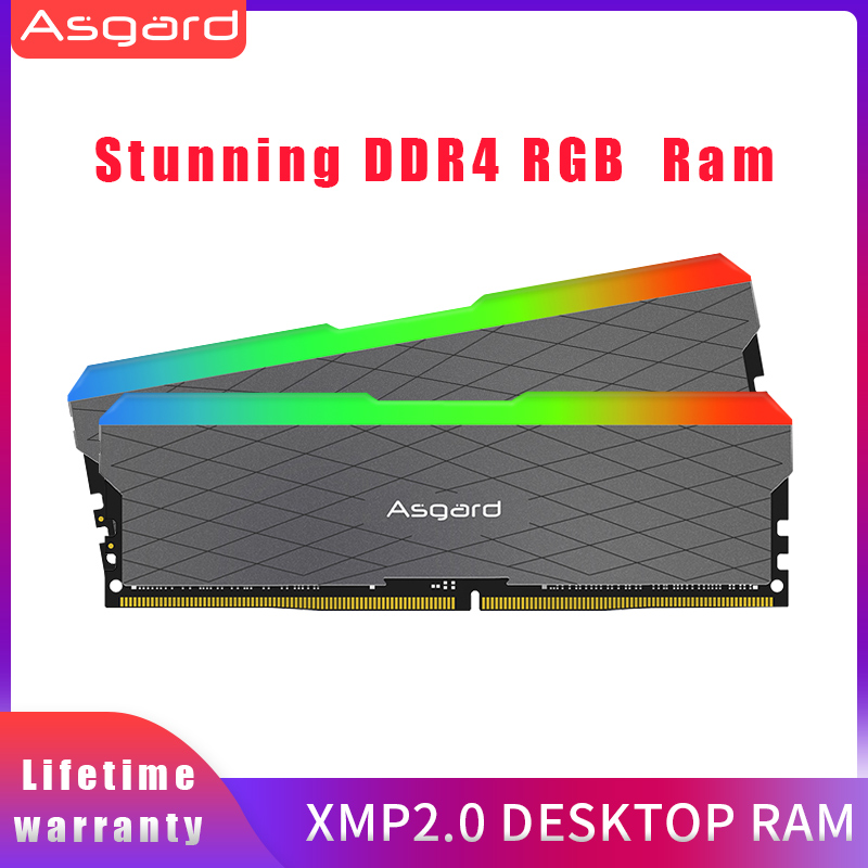 Asagrd Loki w2 seires  RGB RAM 8GBx2 16gb 32gb 3200MHz DDR4 DIMM memoria ram ddr4  Desktop Memory Rams for Computer dual channel 1