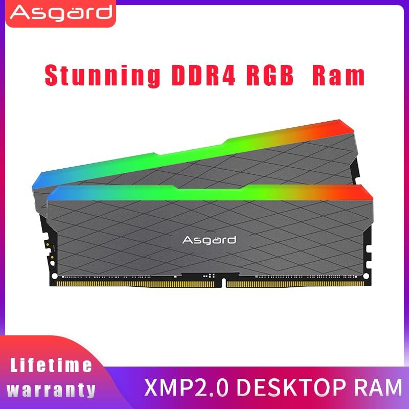 Ram ddr4 da memória do desktop da memória de ram ddr4 da memória de asagrd loki w2 seires rgb 8gbx2 16gb 32gb 3200 mhz ddr4 dimm para o canal duplo do computador