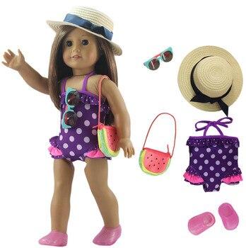 1 Set de ropa para muñeca traje de baño para estadounidense de 18 pulgadas muñeca de muchos estilos para elegir