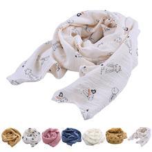 Детский шарф, милая Корона, вишня, звезда, кролик, узор, шарф для шеи, хлопок и лен, аксессуары, четыре сезона, универсальный