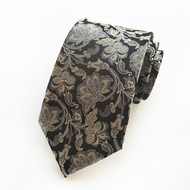 New Classic Mens Ties Luxury Man Floral Paisley Neckties Hombre 8 Cm  Casual  Tie Formal Business Casual Tie For Men