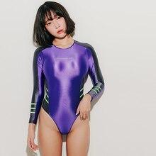 2019 Sport Bodysuit Catsuit Fetisch Zentai One Piece Cosplay Costume Unitard Women Monokini Sexy Sukumizu Bathing
