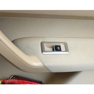 Image 5 - Para touran 2005 11 12 13 14 2015 acessórios do carro de aço inoxidável braço janela interruptor elevador de vidro capa guarnição estilo do carro 5 pçs