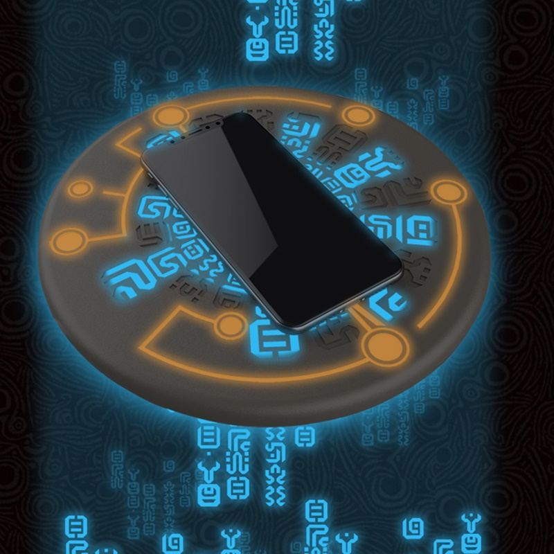 Tongdaytech 10 w magic array qi carregador sem fio para iphone 8 x xs 11 pro max carregador inalambrico rápida almofada de carregamento sem fio
