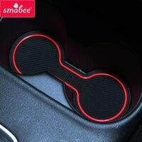 smabee car Gate slot mats For Mitsubishi Outlander 2013 - 2019 3rd Gen Interior Accessories Door Groove Mat 17