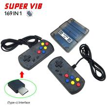 1Set Super VIB Vibration 8 Bit 169 in 1 TV SENS Game Machine Home Nostalgic Double Gaming Controllers Video Game Console Host(China)