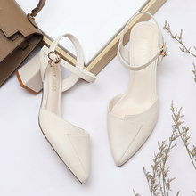 Shoes Woman MOOLECOLE Square Heels Women Summer New Sandals High-Heeled Shoes Pointed Toe Sexy Casual/Dress Women Shoes 2-9582 fedonas new arrival gray pink women low heels casual shoes comfortable four season pointed toe loafers shoes woman