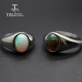 tbj butterfly shape bracelet and earring with natural rainbow opal gemstone set in 925 sterling silver fine jewelry for women natural Opal Ring oval 7*9mm gemstone women Ring simple elegant fine jewelry 925 sterling silver  tbj promotion