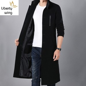Mens Winter Stand Collar Maxi Long Woole