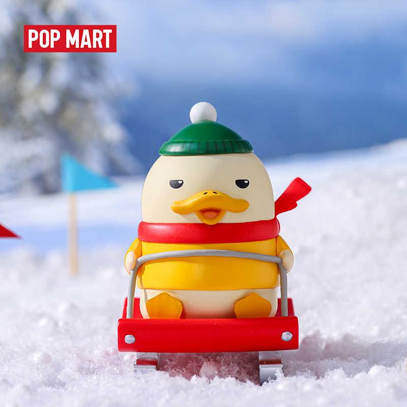 Mexico city'den POPMART 1 adet Duckoo kış ördek şekil kör kutu bebek ikili aksiyon figürü doğum günü hediyesi çocuk oyuncak