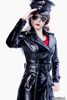 1/6 Scale The Queen Style Long Leather Suit Black/Red Color Clothes Set & Hat & Shoes & Sunglasses for 12'' Phicen Action Figure