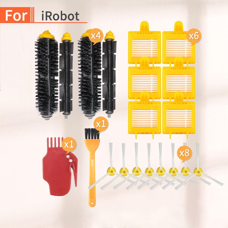 For IRobot Roomba 700 Series 770 780 790 784 772 774 High Quality Hard Brush, Side Brush, Hepa Filter Robot Vacuum Cleaner Kit