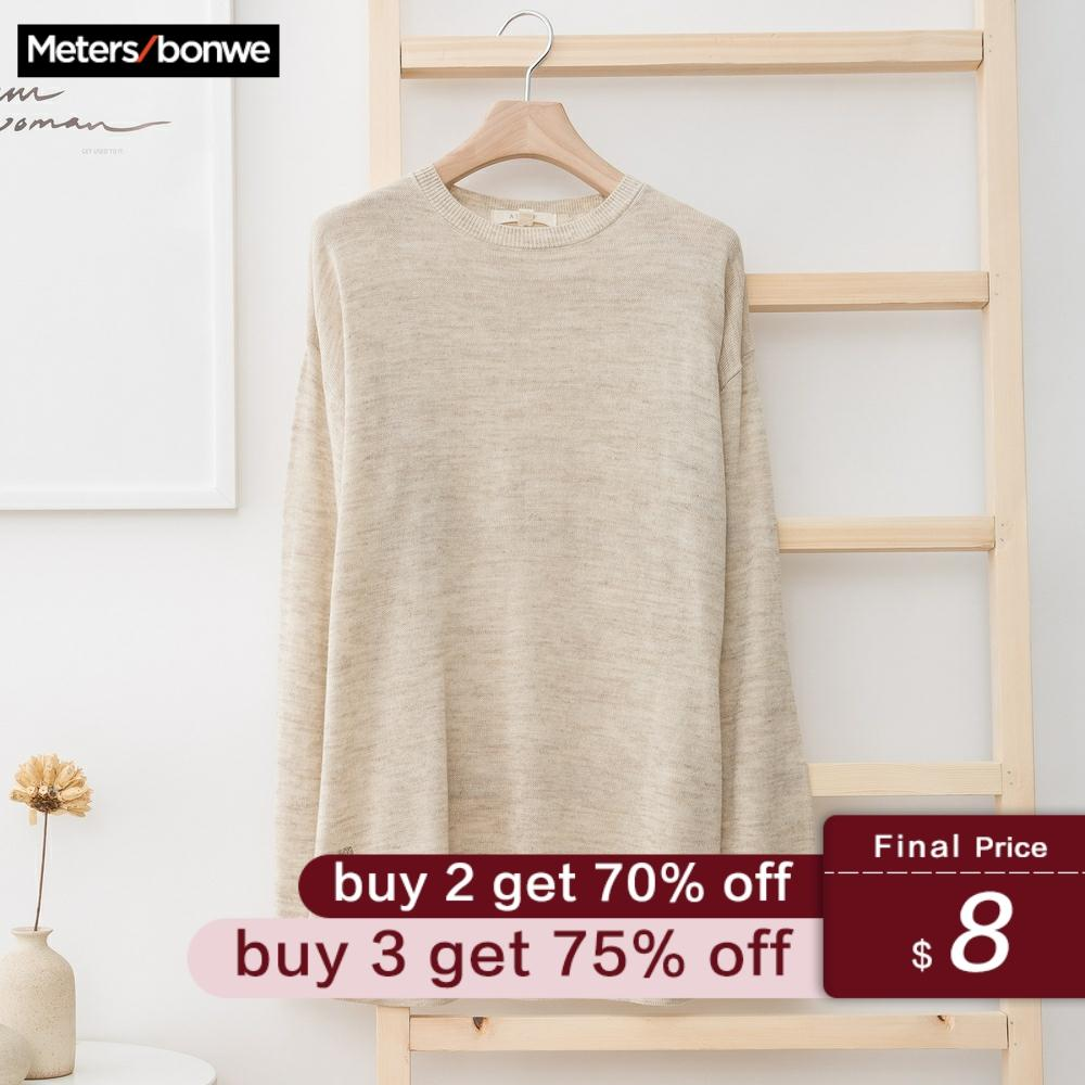 Metersbonwe New Brand Linen Sweater Men 2019 Autumn Fashion Long Sleeve Knitted Men Cotton Sweater High Quality Clothes