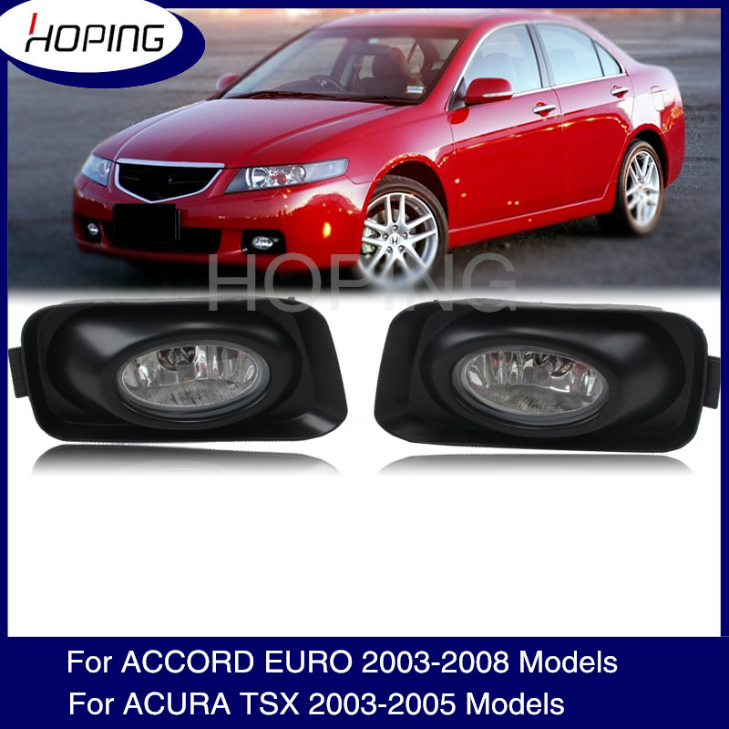Hoping Front Bumper Fog Lamp Foglamp For HONDA ACCORD EURO CL7 CL9 2003-2008 For <font><b>ACURA</b></font> <font><b>TSX</b></font> 2003-2005 Front Foglight Fog Light image