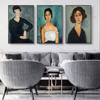 Canvas Print Paintings Amedeo Modigliani Christina Vintage Posters and Prints Portrait of The Woman Wall Art Pictures Home Decor image