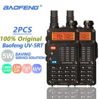5r מכשיר הקשר 2pcs Baofeng UV-5RT מכשיר הקשר VHF UHF 2 Way רדיו נייד משדר Hf חובב רדיו Ham UV-5R פלוס כף יד Talki Walki (1)