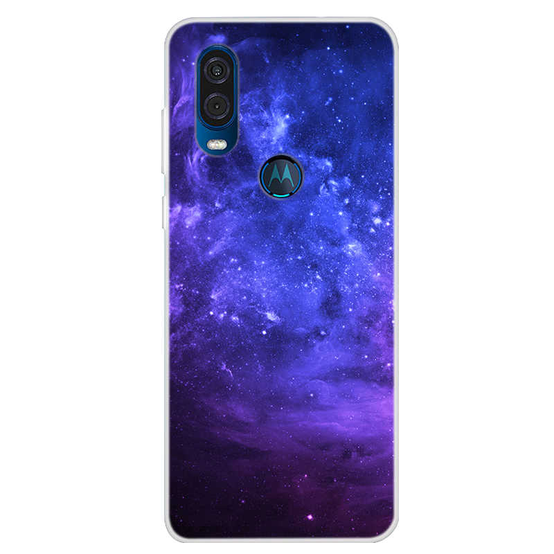 Popüler durumda Moto bir vizyon durumda 6.3 ''serin yıldız boyama yumuşak TPU telefonu motorola kılıfı bir vizyon durumda P50 arka kapak