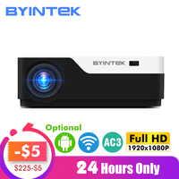 BYINTEK Luna K11 Smart Android Wifi 200 pulgadas 1920x1080 1080P FULL HD LED proyector de vídeo HD USB para cine en casa cine