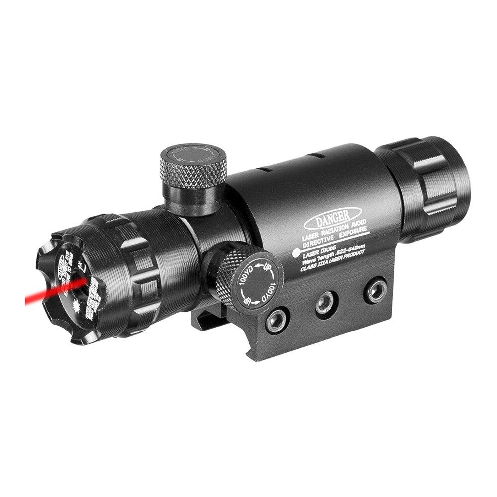 ponteiro a laser tatico montar ponto vermelho verde mira laser rifle caca escopo 20mm airsoftsport ferroviario