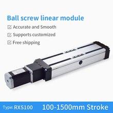 RXS-100 SFU1610 Ball Screw 1200 mm CNC Linear Motion Module Guide XY Slide Table Rail Stage Servo Motorized Robotic Arm Kit