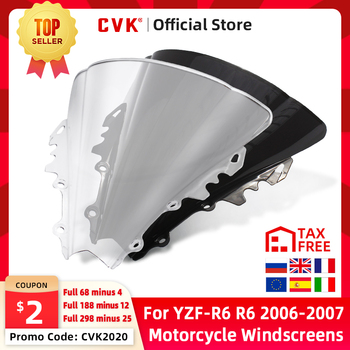 CVK Motorcycle Windshield Spoiler Windscreen Air Wind Deflector For YAMAHA YZF600 R6 YZF-R6 2006 2007 06-07 Parts