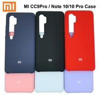 Funda de silicona líquida para Xiaomi Mi Note 10 Pro, funda protectora trasera suave y sedosa para Xiaomi mi cc9 Note 10 pro