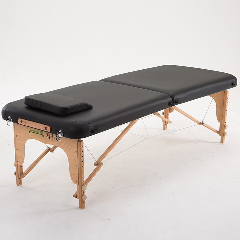 Solid Wood Folding Beauty Bed Portable Portable Acupuncture Physiotherapy Massage Massage Bed Home Fire Therapy Moxibustion