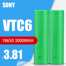 1-10 sztuk Sony 100% oryginalny 3.6v 18650 VTC6 3000mah akumulator litowy US18650VTC6 30A rozładowania do latarki zabawki