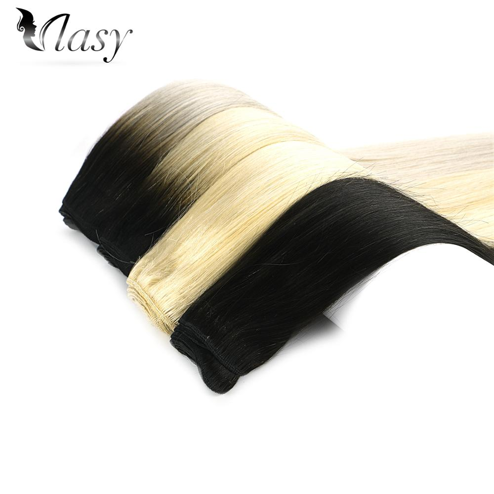 Vlasy Straight Machine Made Remy Hair Weft 100% Human Hair Weave Bundles 16'' 18'' 20'' 22'' 24'' 100g/pc