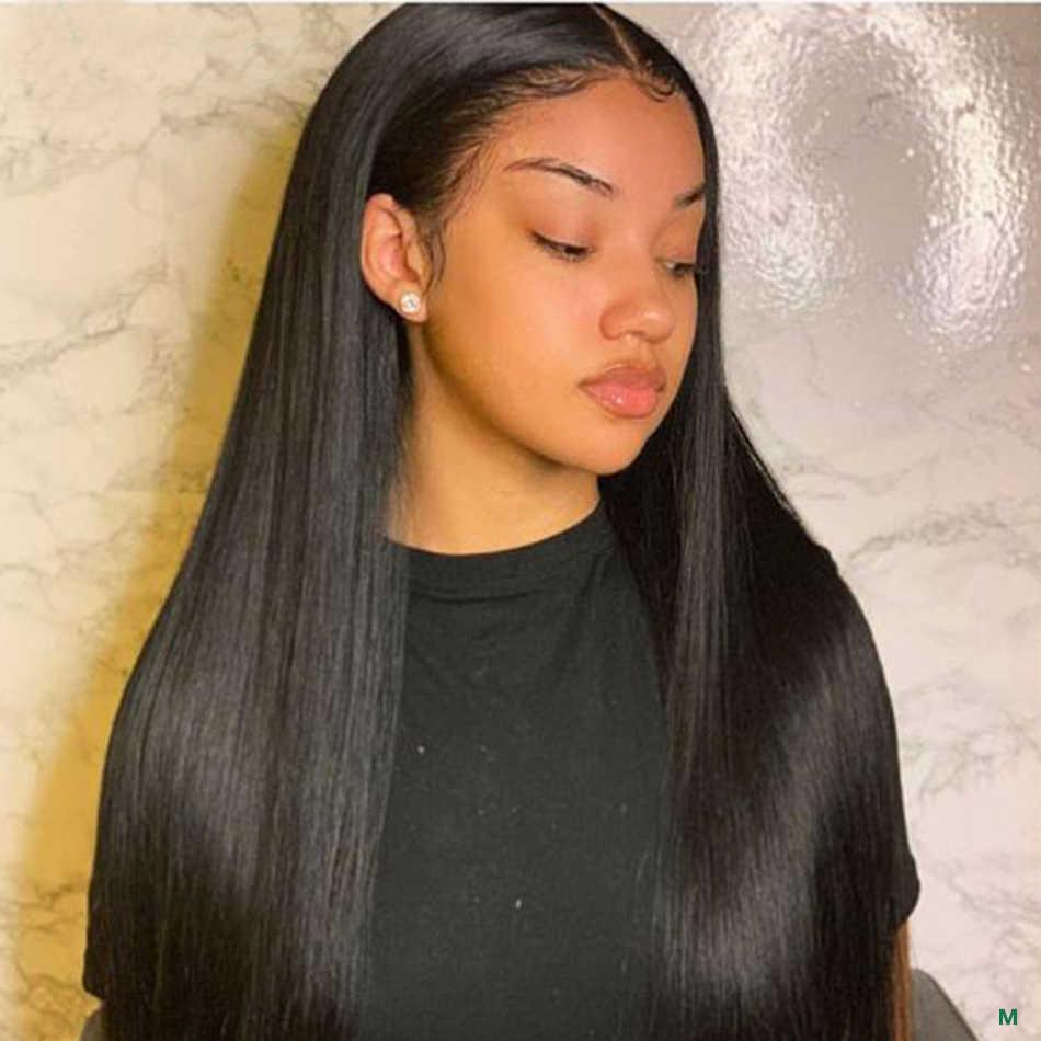 Gerade Spitze Vorne Menschenhaar Perücken Pre Gezupft 150% 13x4 Spitze Frontal Perücke 8-26 zoll Brasilianische remy Menschliches Haar Perücken Für Frauen