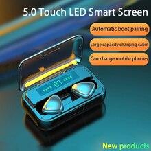TWS Bluetooth 5.0 écouteurs 9D HIFI 2000mAh boîte de charge sans fil casque LED affichage écouteurs casques sport étanche