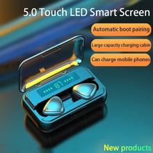 TWS Bluetooth 5.0 kulaklık 9D HIFI 2000mAh şarj kutusu kablosuz kulaklık LED ekran kulakiçi kulaklıklar spor su geçirmez