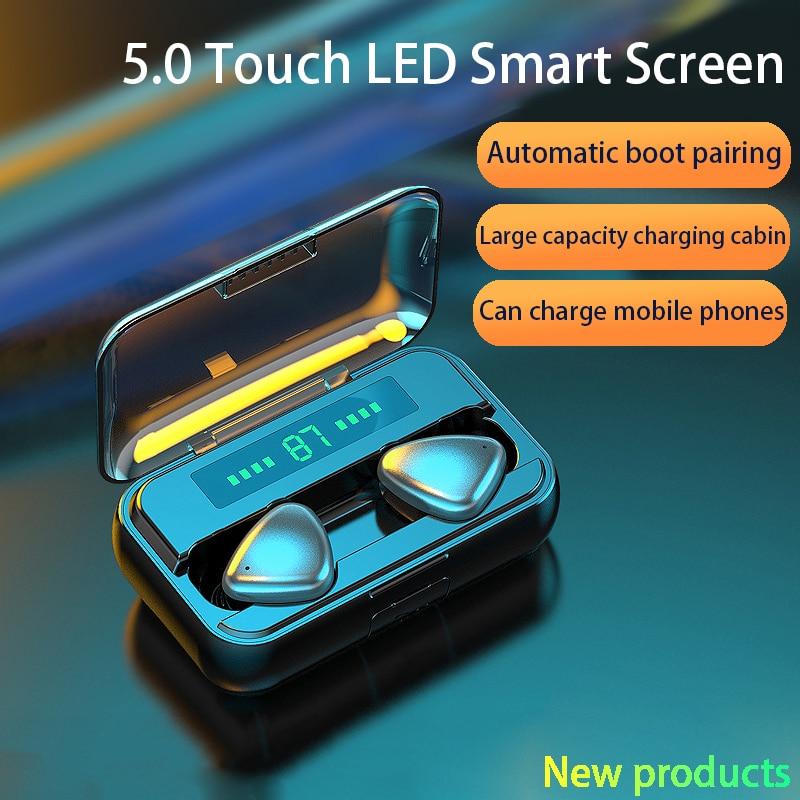TWS Bluetooth 5.0 Earphones 9D HIFI 2000mAh Charging Box Wireless Headphone LED display Earbuds Headsets Sports Waterproof