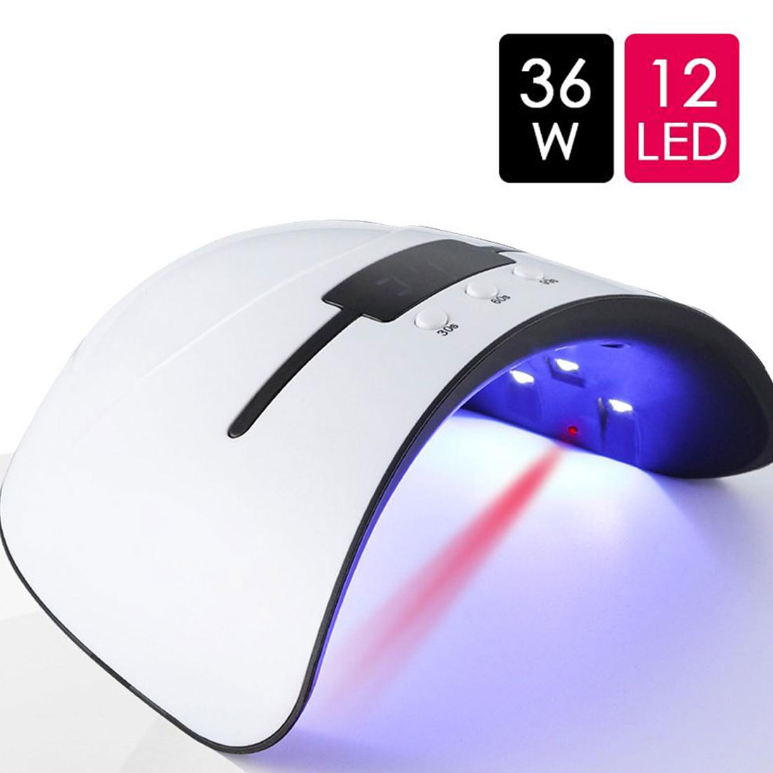 36/6W UV Lamp Nail Dryer For All Types Gel 12 Led UV Lamp For Nail Machine <font><b>USB</b></font> 30s 60s 90s Timer Portable UV Lamps Hardening image
