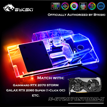 Bykski N-GY2070STORM-X Full Coverage GPU Water Block For Gainward RTX2070 Storm/GALAX RTX2060 SUPER (1-Click OC) Cooler Heatsink