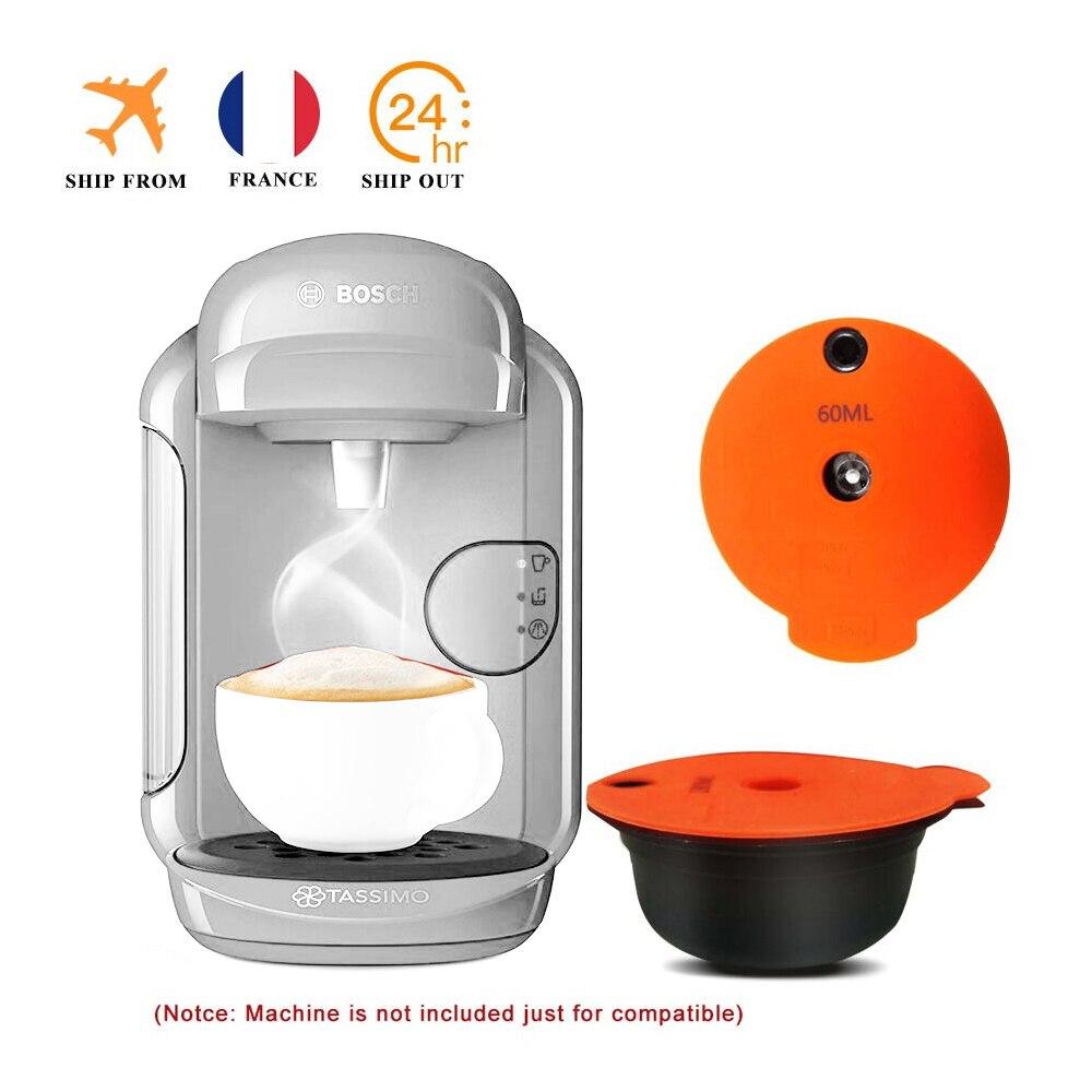 ICafilas كبسولات القهوة القابلة لإعادة الملء متوافق مع Bosh S آلة Tassimoo قابلة لإعادة الاستخدام مضخة قهوة صانع كريما صديقة للبيئة|Coffee Filters| - AliExpress
