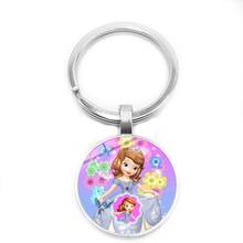 2019 Children's Jewelry Ornaments Cartoon Cute Sophia Princess Glass Cabochon Pendant Keychain Jewelry Gift брюки sophia sophia so042ewgoif9