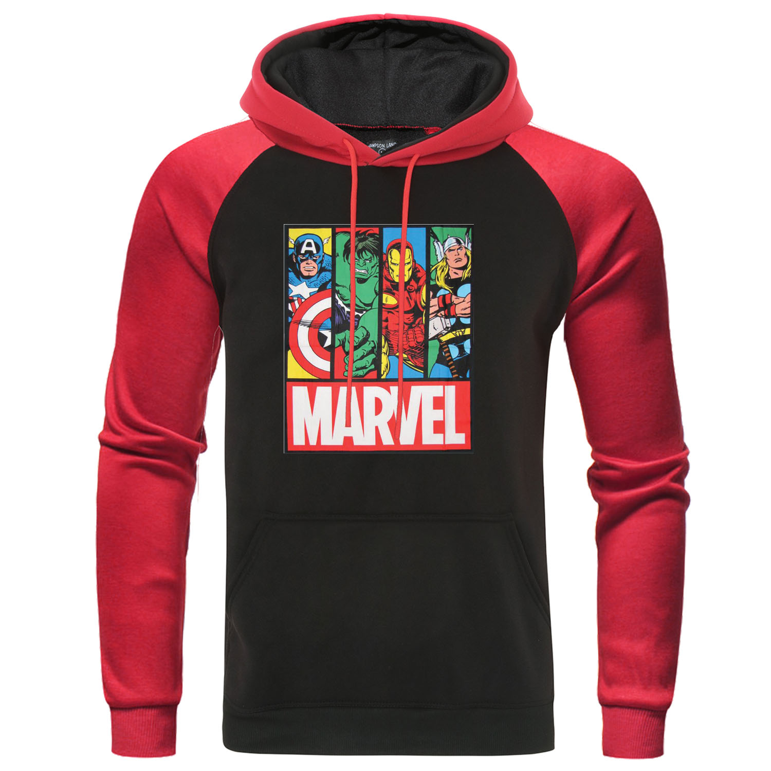 The Avengers Men Casual Pullover Marvel Superhero Tracksuit Brand Mens Hoodies Sweatshirt Raglan Streetwear Autumn Male Hoody