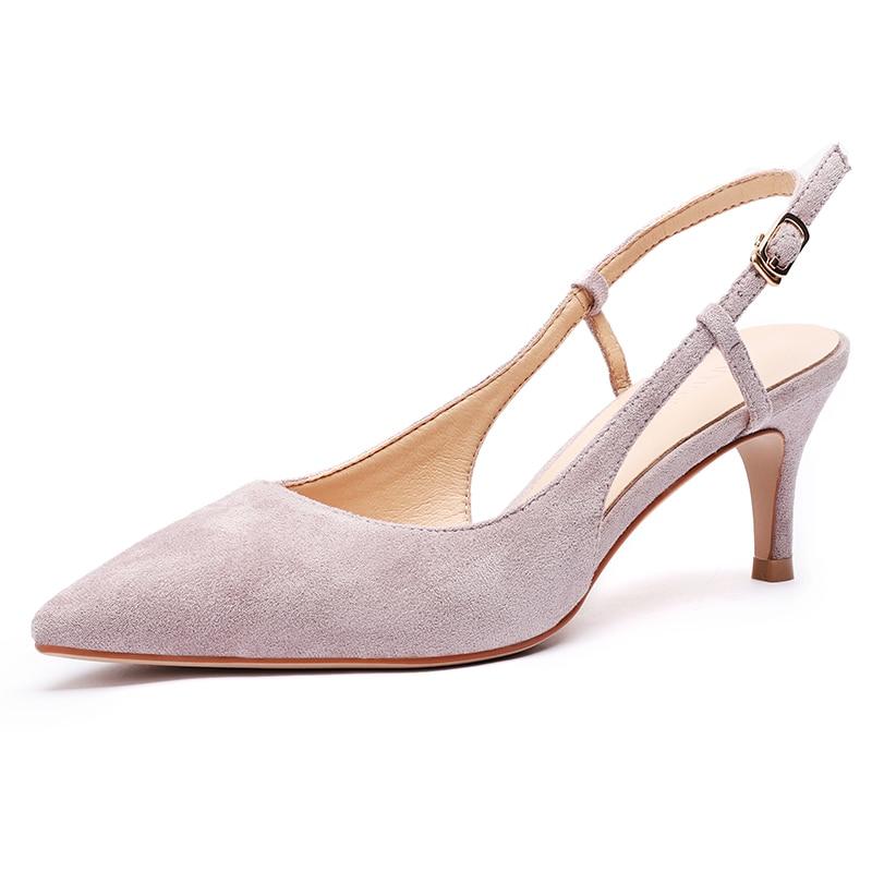 Woman's Spring 6cm Thin High Heels Slingbacks 2