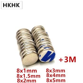 10 sztuk magnes 8 #215 1 8 #215 1 5 8 #215 2 8 #215 3 8 #215 4 8 #215 5 3M samoprzylepne magnes NdFeB 8mm zaokrąglone jednostronny taśma piankowa magnetyczny standardowe tanie i dobre opinie CN (pochodzenie) NONE permanentny Przemysłowy magnes Magnes neodymowy Blok 8x1 8x1 5 8x2 8x3 8x4 8x5