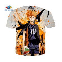 Японская аниме «haikyuu hinata» shoyo 3d печать мужская футболка