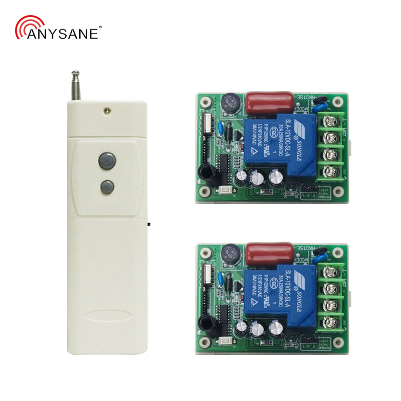 3000m Long Range Wireless Remote Control Switch 2-CH 433mhz Rf Transmitter With 30A 220V Relay Receiver Learning Code EV1527 Kit