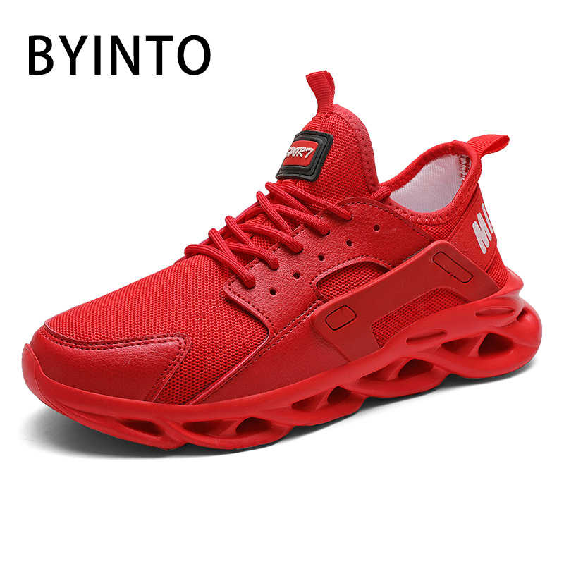 mens red athletic shoes