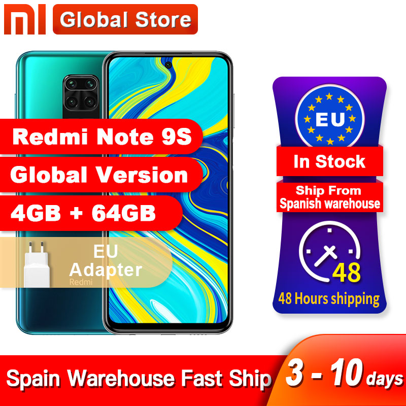 Spain Overseas Global Version Xiaomi Redmi Note 9S 4GB 64GB /6GB 128GB smartphone Snapdragon 720G Octa core 48MP Quad Camera(China)