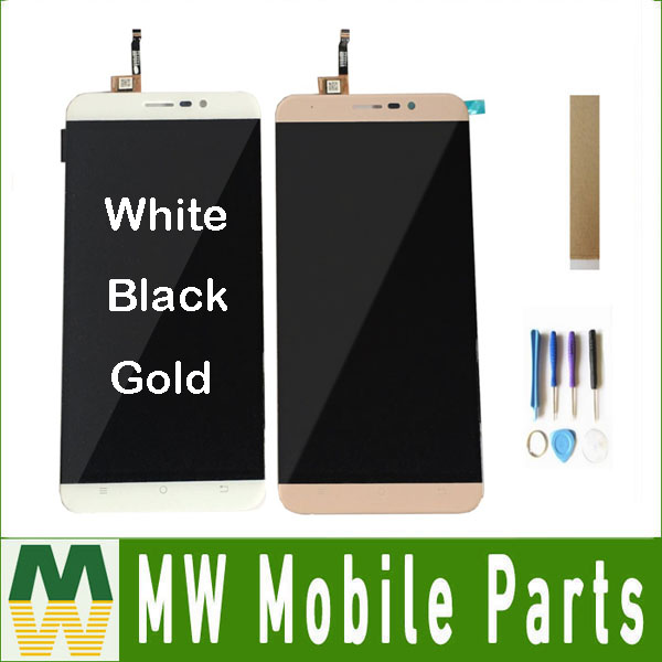1PC/Lot For Cubot Dinosaur LCD Display+Touch Screen Digitizer Assembly Replacement  Black White Gold Color With Tools 5.5Inch