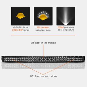 Image 2 - 5D 22 32 42 inch 2000LM Curved Led Light Bar Black Lenses Combo Beam Led Work Light For Tractor OffRoad ATV 4x4 4WD UTV SUV UAZ