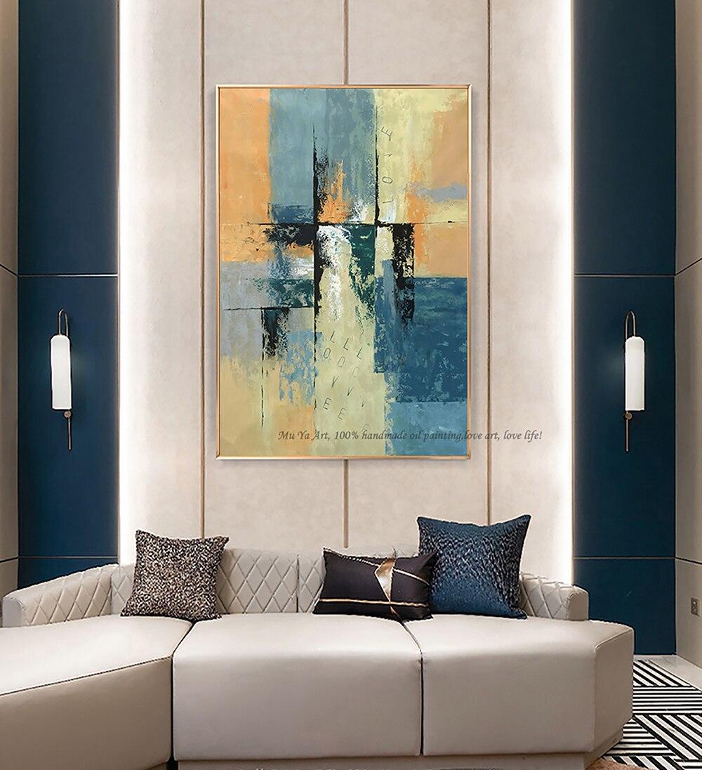 Decoration Murale Pour Salon acheter peinture À lhuile originale art abstrait huile sur toile moderne  décoration murale peinture abstraite originale pour salon chambre grande de