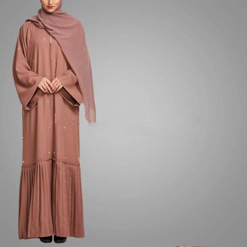 2019 mulheres muçulmano longo robe jilbab maxi