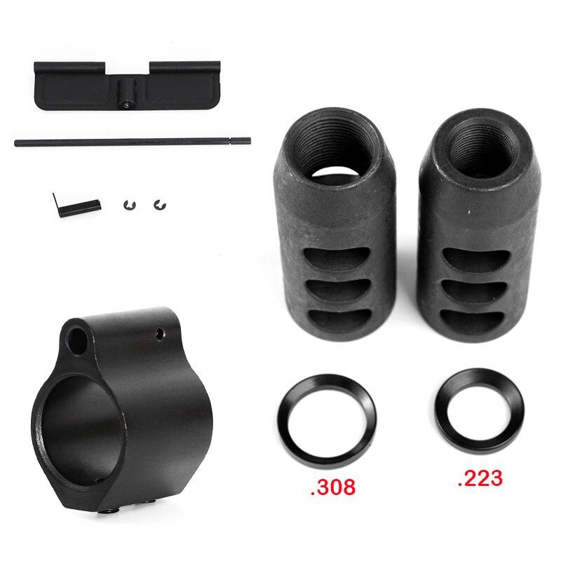 . 308.223 / 5.56 frein museau en acier avec rondelle d'écrasement. 1/2x28 fil accessoires de chasse en plein air
