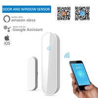 Capteur intelligent de fenêtre de porte de tuya Wifi détecteur intelligent sans fil de capteur d'écart de sécurité fonctionne avec le système d'alarme d'ifttt de maison d'alexa Google
